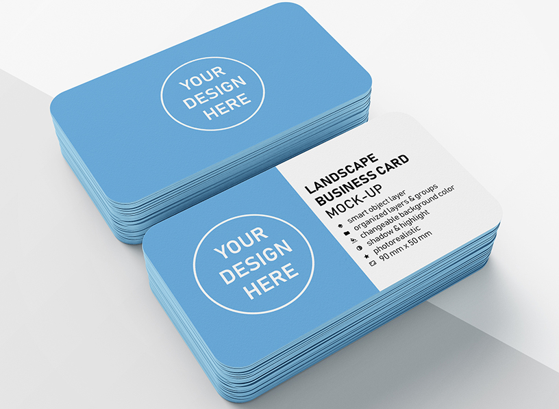 Rounded Corner Visiting Card Printing